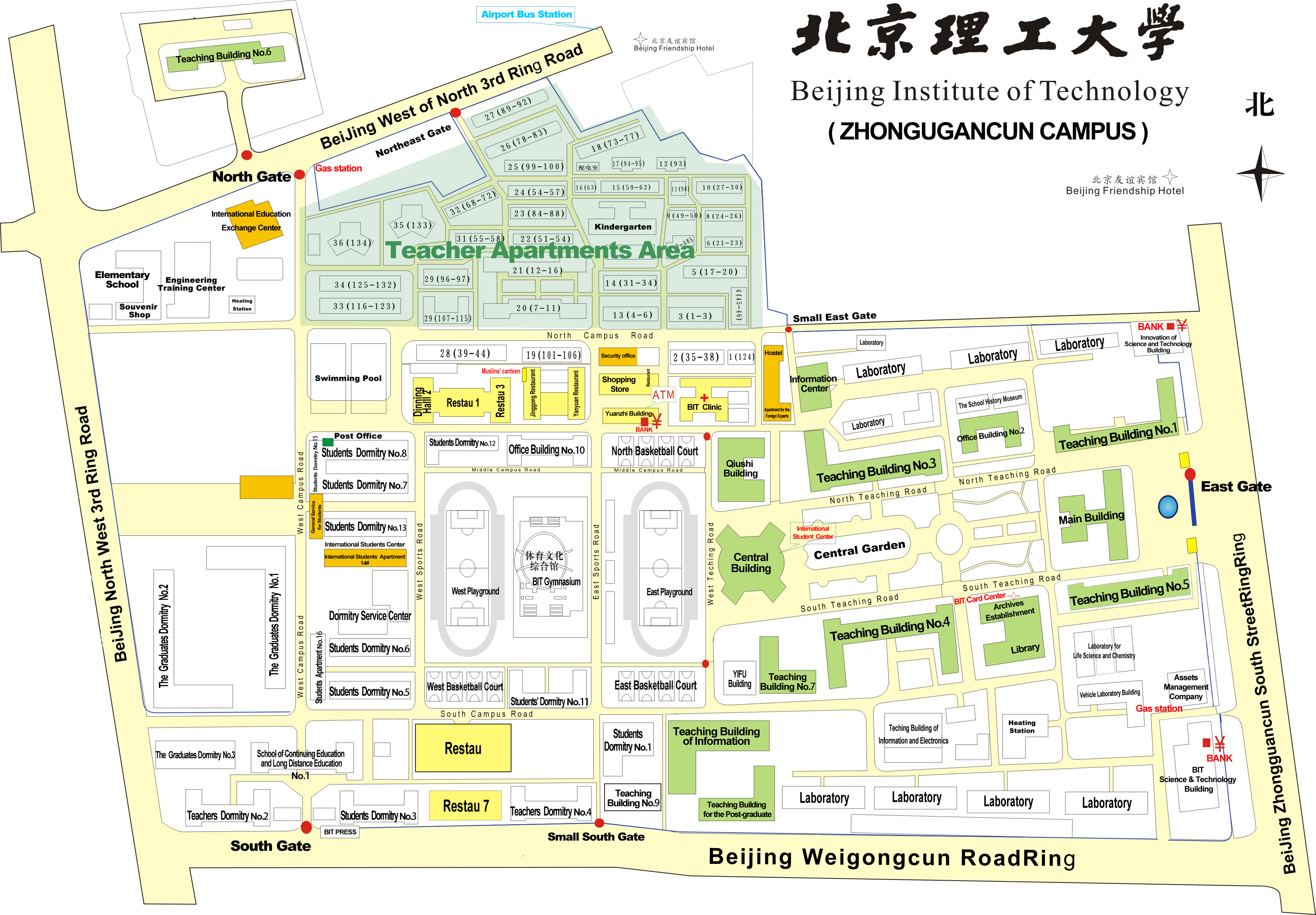 Beijing Institute of Technology Campus Ichnography 1