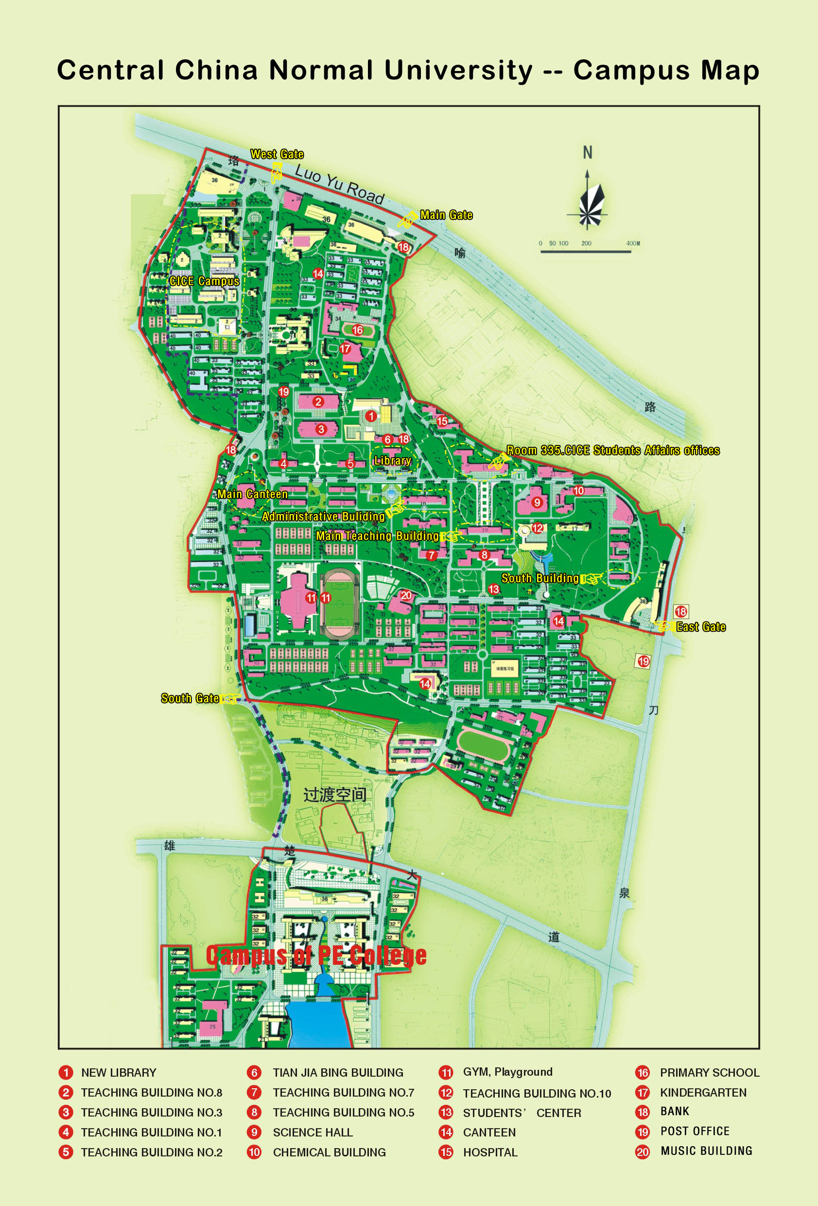 CCNU Central China Normal University - Sweden map universities