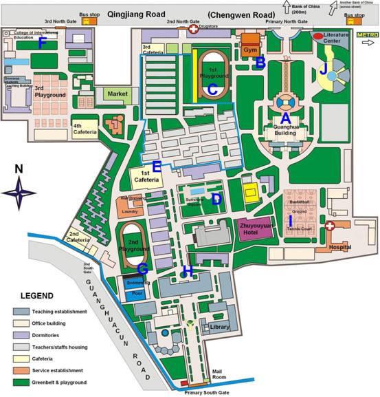 SWUFE Guanghua Campus Map
