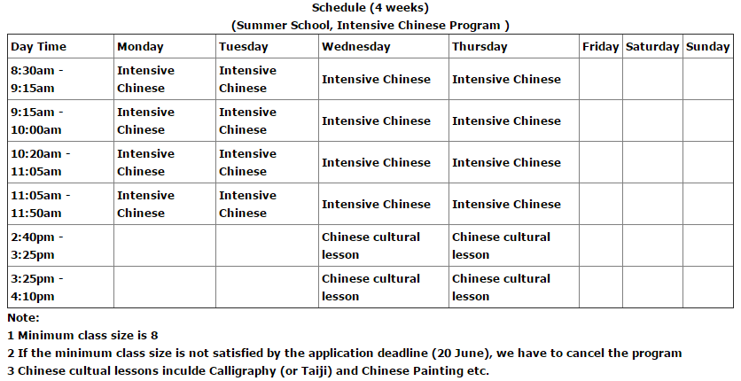 Summer Camp And Short Term Training At Swufe China
