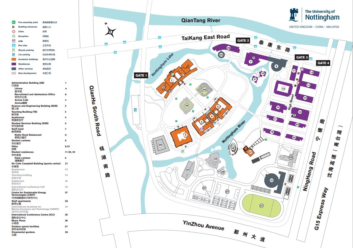 unnc campus map