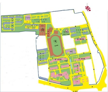 Tongji Huxi Campus Map