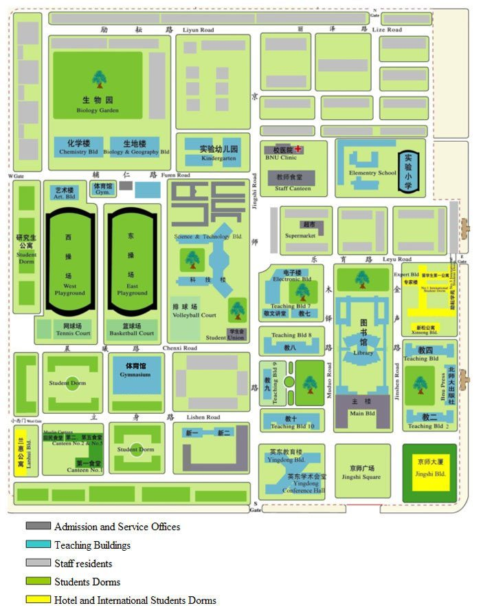 Beijing Normal University-campus map