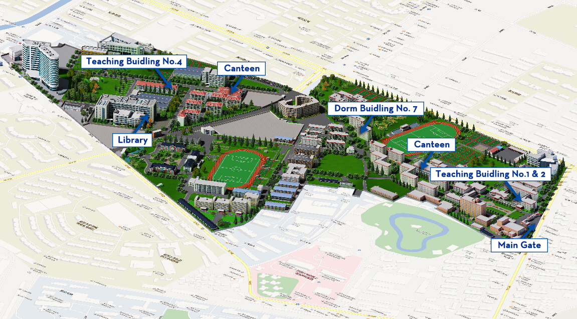 Map of Guoding Road Campus