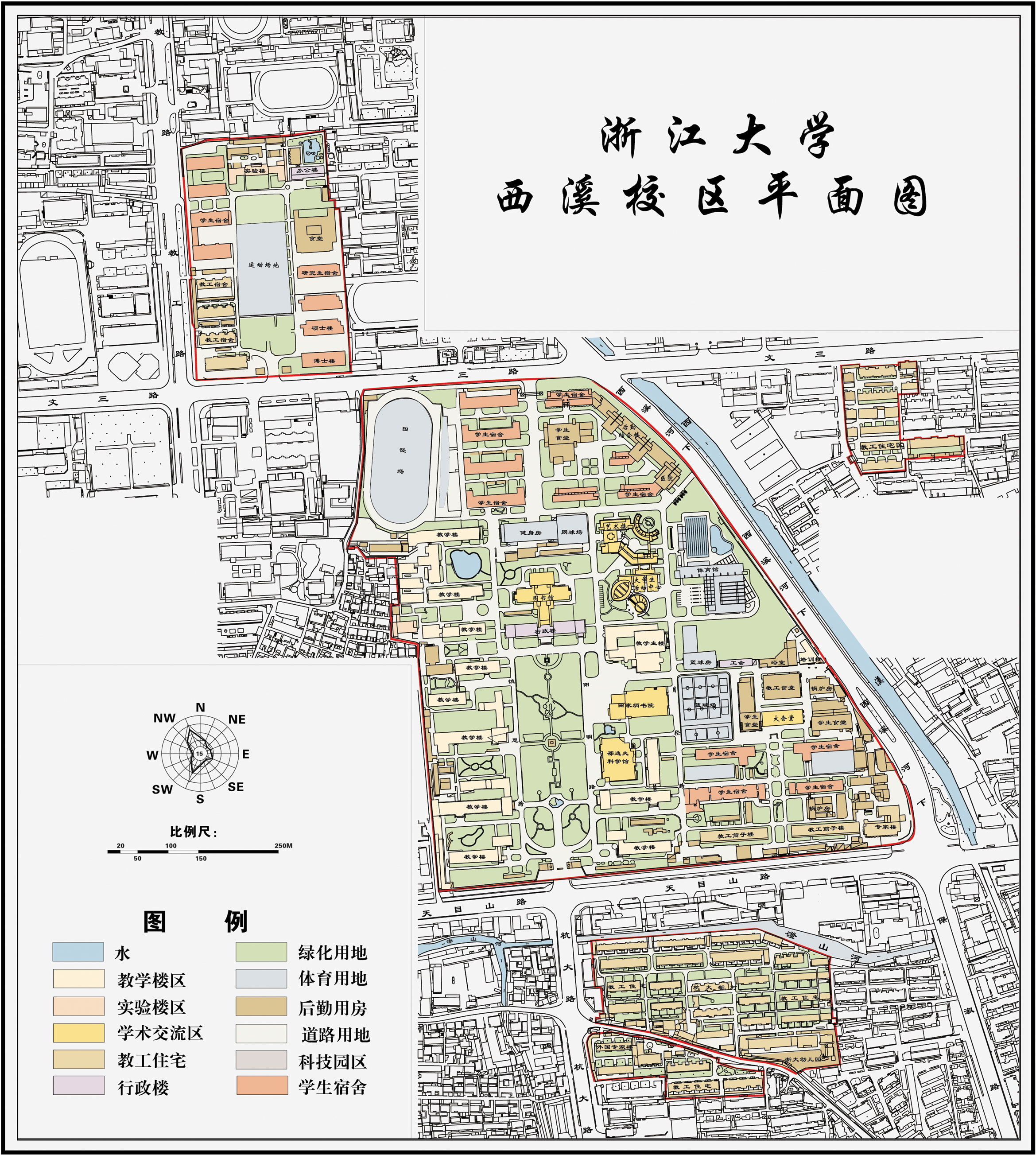 ZJU Xixi Campus Map