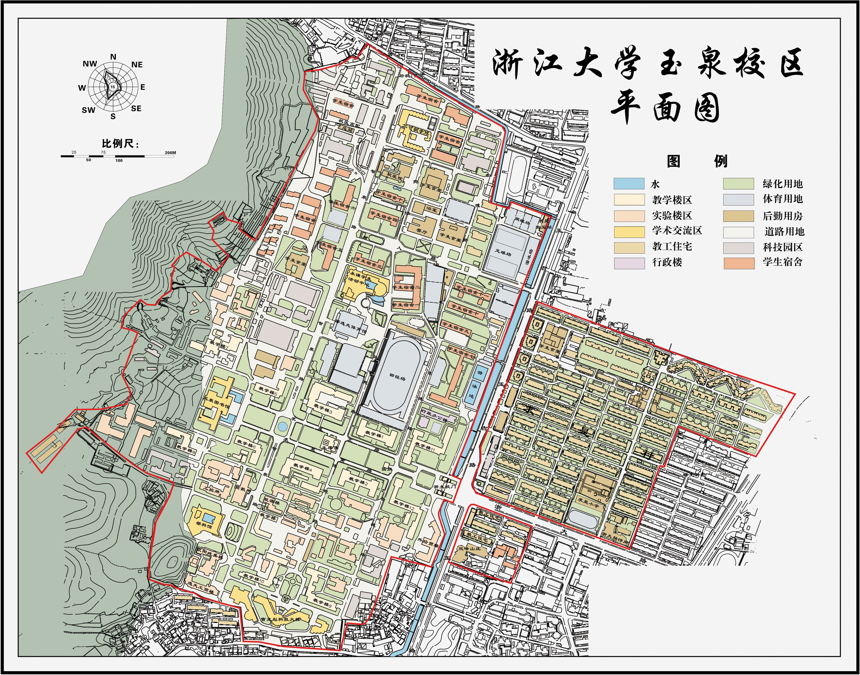 ZJU-Yuquan-Campus-Map