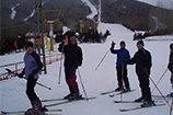 Harbin Institute of Technology (HIT) students skiing
