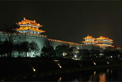 Xi'an City Wall by Night