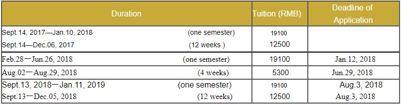 BLCU Short-term Chinese Intensive course