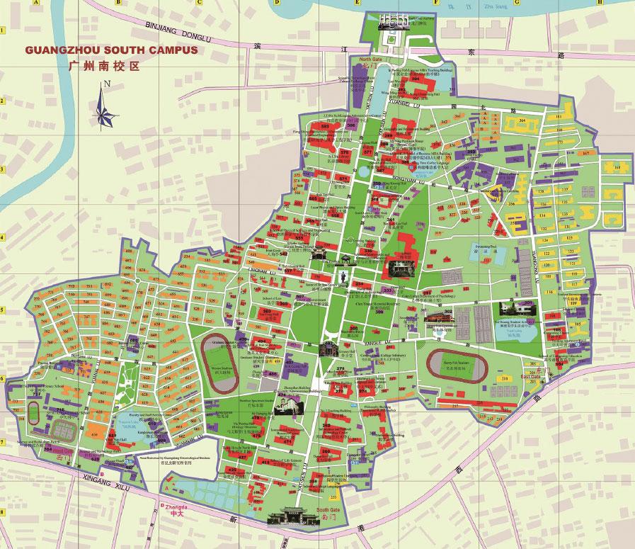 Sun Yat-sen University Guangzhou south campus map