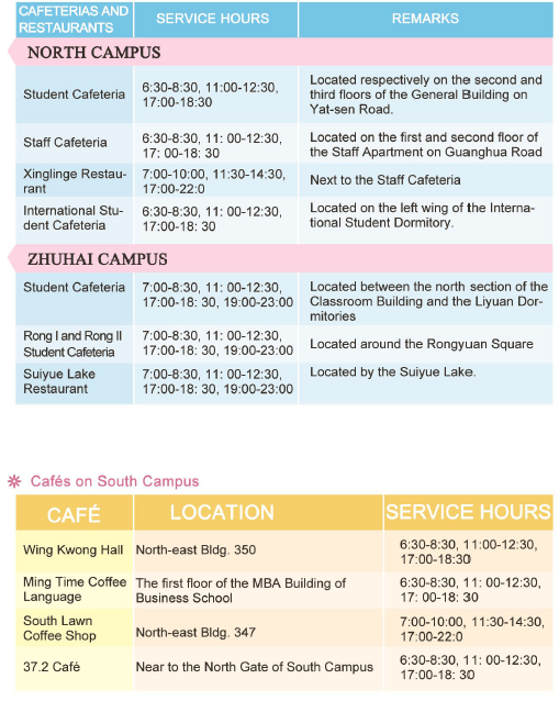 Sun Yat-sen food and beverage