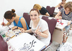 seu summer camp chinese painting class