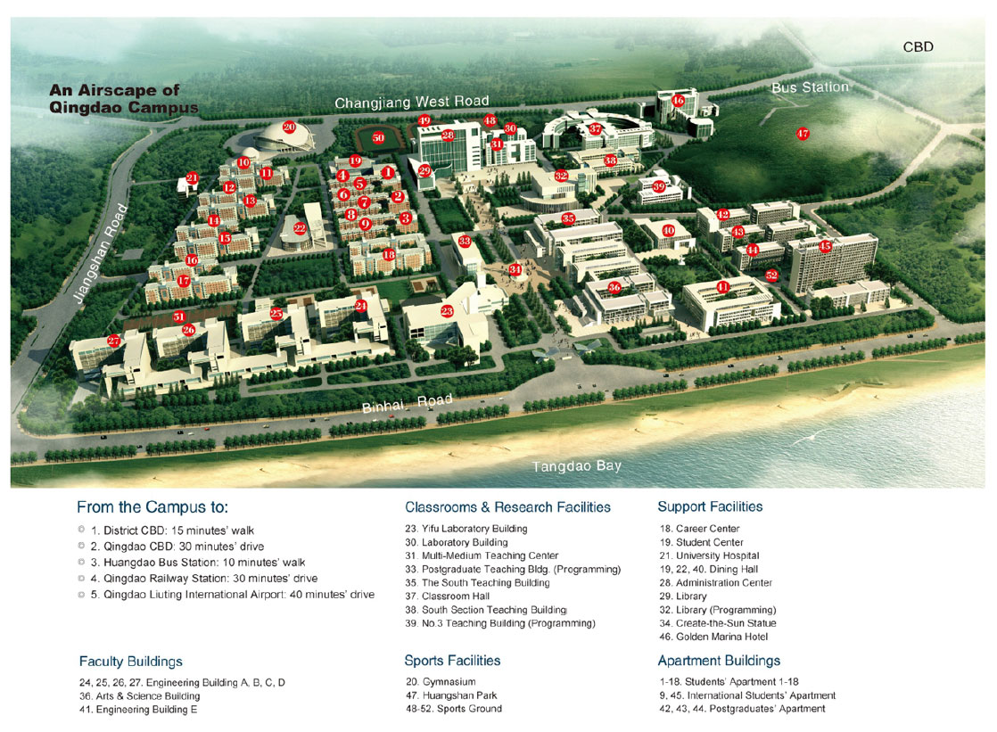 China University of Petroleum (UPC) Campus Map