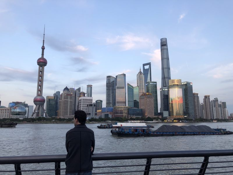 Michael, CEIBS student, at Shanghai city