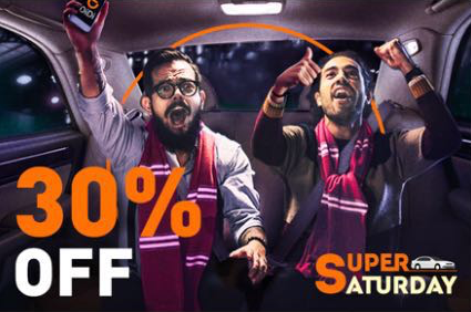 30% Off DiDi this Super Saturday