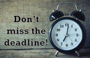 do not miss university deadlines ticking clock