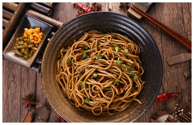 Wuhan hot dry noodles Chinese snacks
